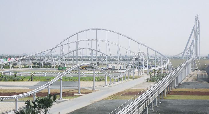 Ferrari Roller Coaster Abu Dhabi @TheRoyaleIndia