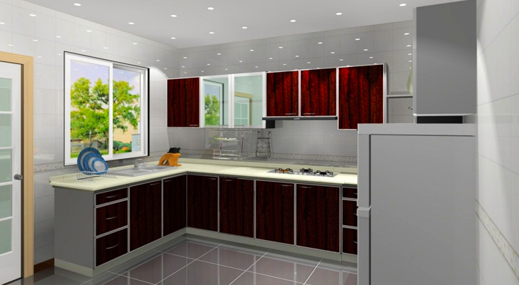 lL Shaped Modular Kitchen Design @TheRoyaleIndia
