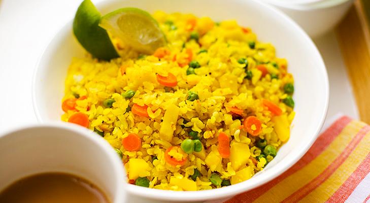 vegetable poha @TheRoyaleIndia