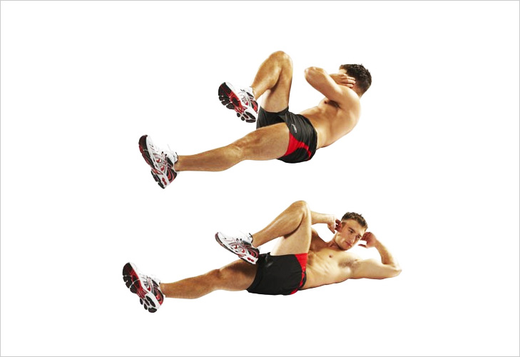 How to Do Reverse Crunches pictures