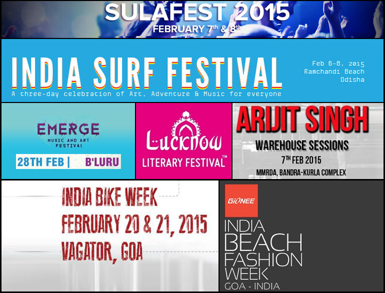 Events in the month of February 2015 @TheRoyaleIndia