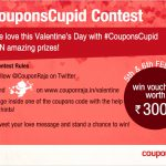 Participate in #CouponsCupid @ Couponraja for a memorable Valentine's Day