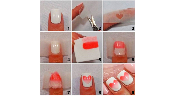 Pink-Heart Nail Art! @TheRoyaleIndia