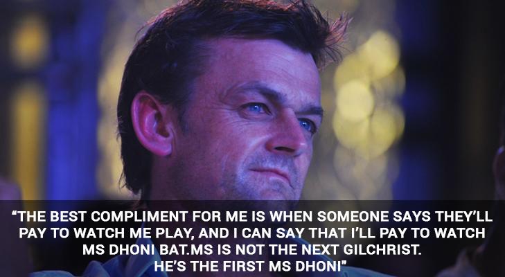 gilchrist on dhoni @TheRoyaleIndia