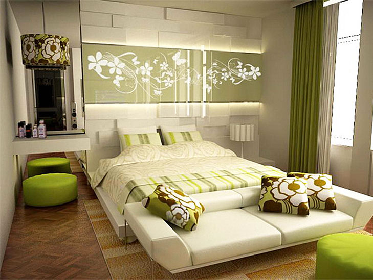 green bedroom ideas @TheRoyaleIndia