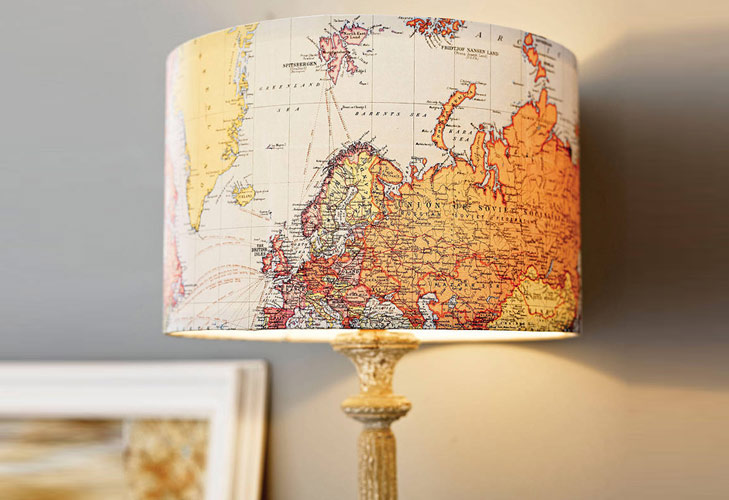 Lamp Made of World Map @TheRoyaleIndia