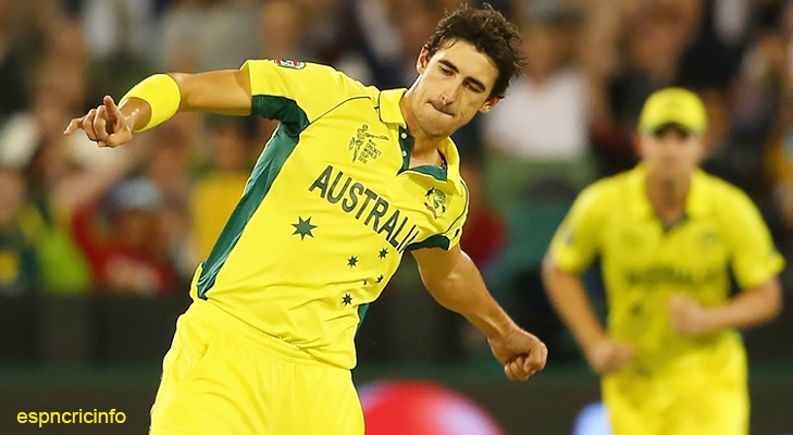 Mitchell Starc World Cup 2015 @TheRoyaleIndia