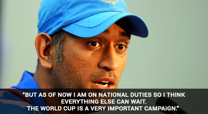ms dhoni im on national duty @TheRoyaleIndia