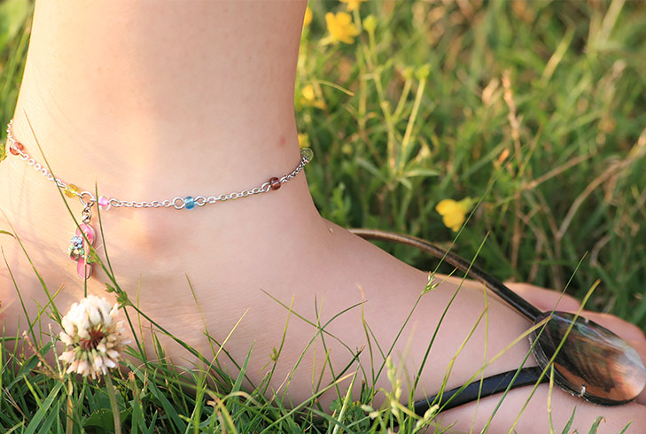 beads anklet @TheRoyaleIndia
