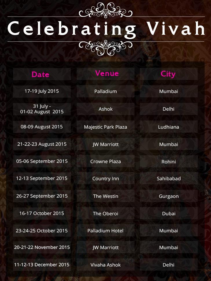 Celebrating Vivah 2015 Calendar @TheRoyaleIndia