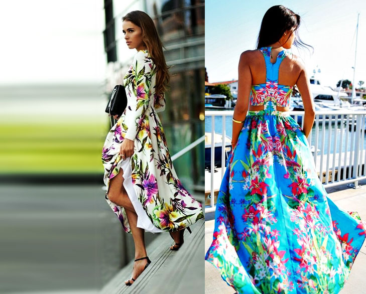 floral print maxi dresses @TheRoyaleIndia