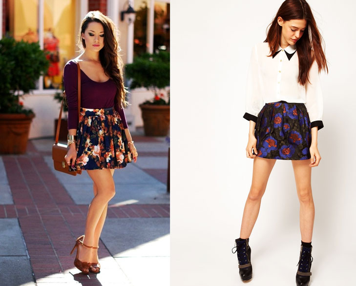 flower print mini skirt @TheRoyaleIndia