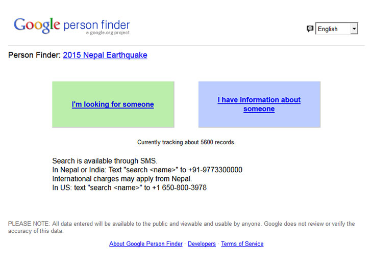 google person finder @TheRoyaleIndia