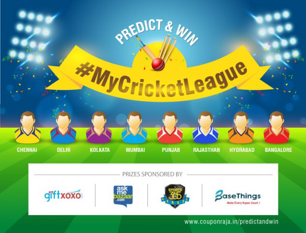 Predictandwin contest MyCricketLeague @TheRoyaleIndia