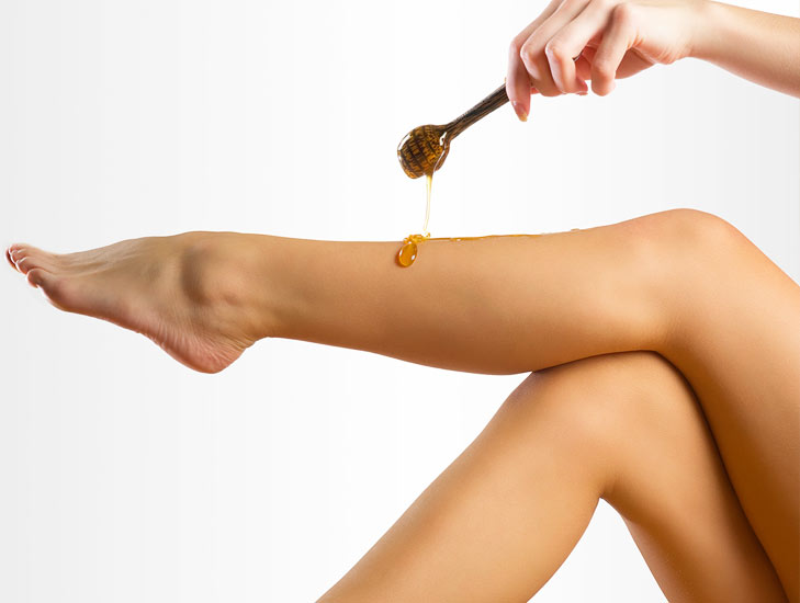 waxing the leg hair @TheRoyaleIndia