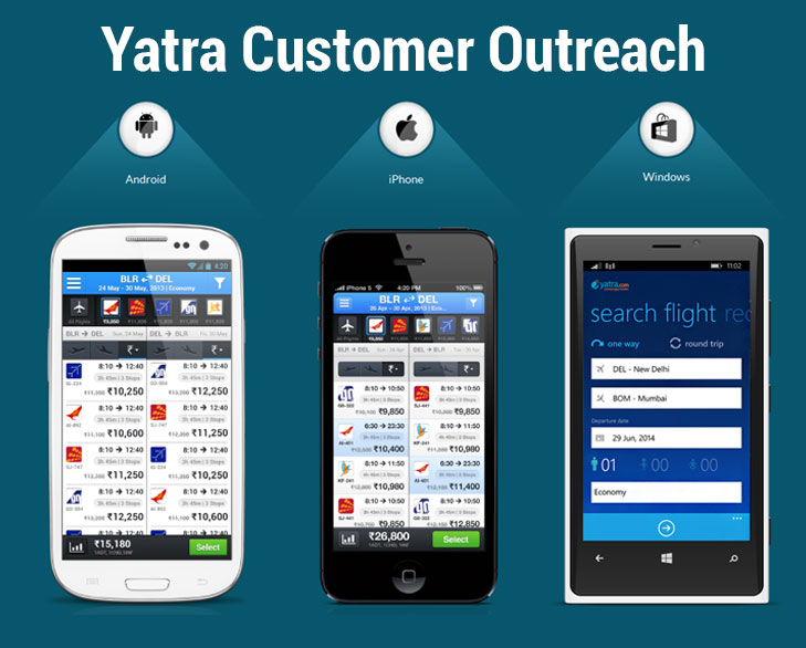 yatra customer outreach @TheRoyaleIndia