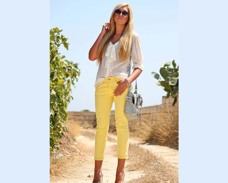 Yellow Capri Pants @TheRoyaleIndia