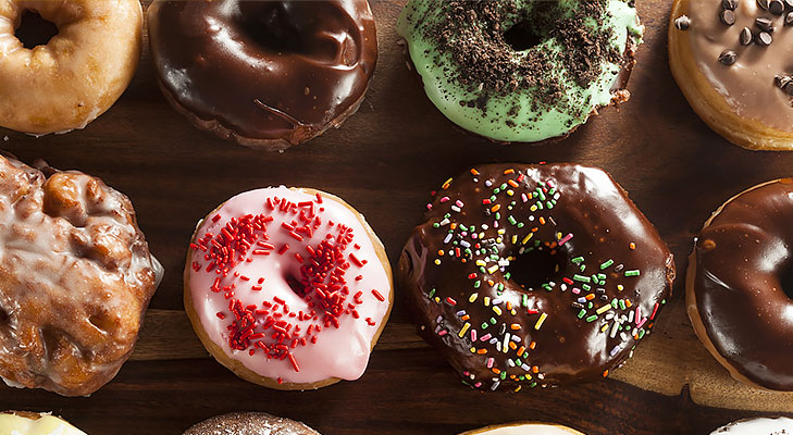 assorted doughnuts @TheRoyaleIndia
