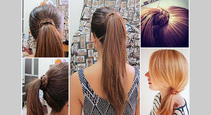 braid wrapped ponytail @TheRoyaleIndia
