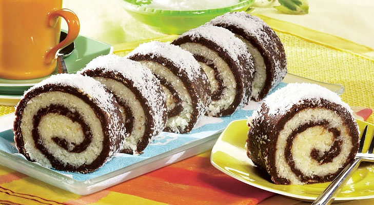 Coconut Cherry Roulade @TheRoyaleIndia