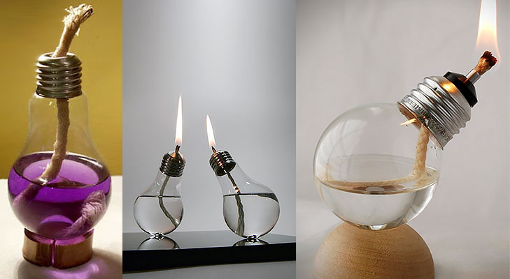 Light Bulb Oil Lamp DIY @TheRoyaleIndia