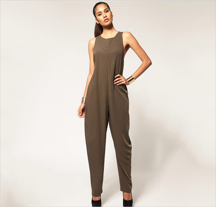 Brown Baggy Jumpsuit @TheRoyaleIndia