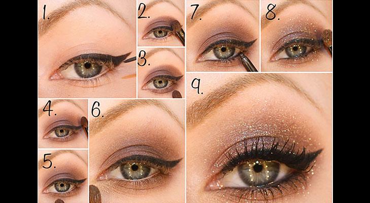 simmery eye makeup tutorial @TheRoyaleIndia