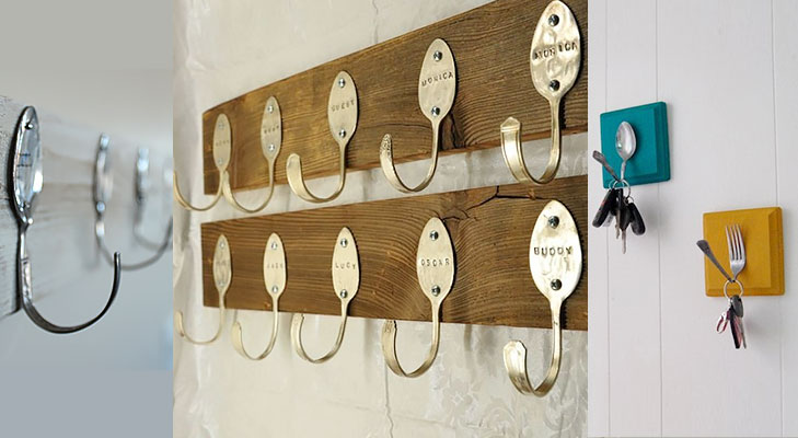 spoon and fork hooks diy @TheRoyaleIndia