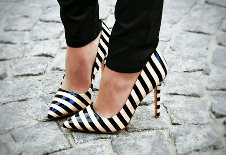 Striped Shoes @TheRoyaleIndia