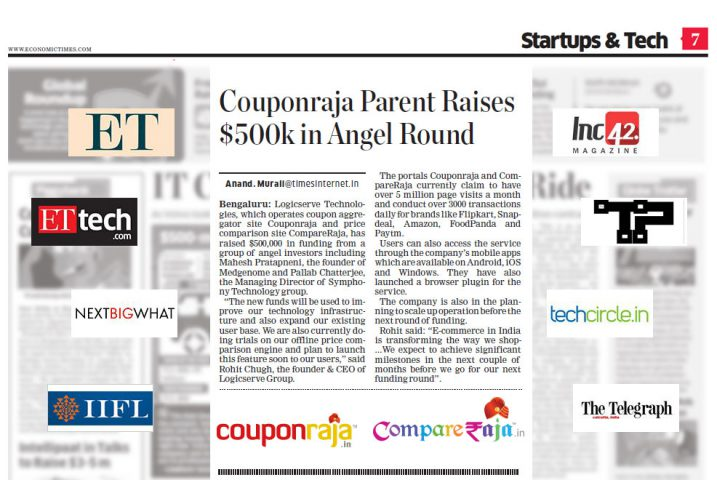 Couponraja and CompareRaja successfully raise $500K through angel investors @TheRoyaleIndia