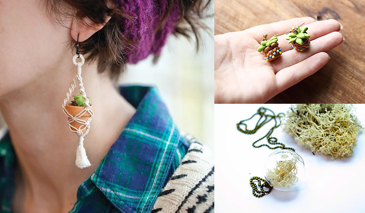 potted plant earrings @TheRoyaleIndia