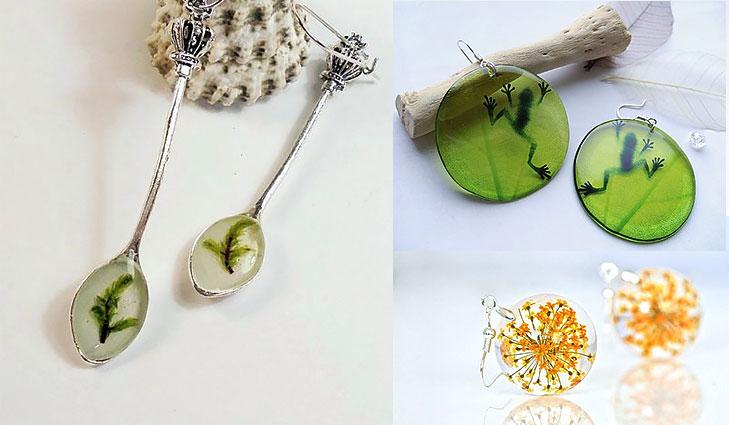 resin earrings @TheRoyaleIndia