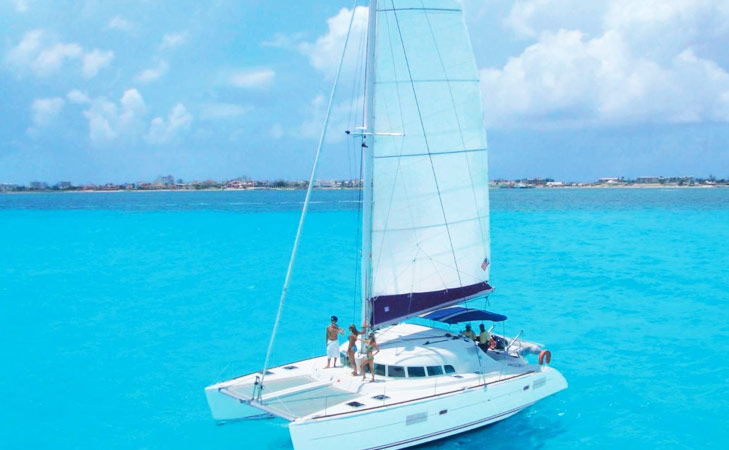 sailing on catarman in St.martin @TheRoyaleIndia