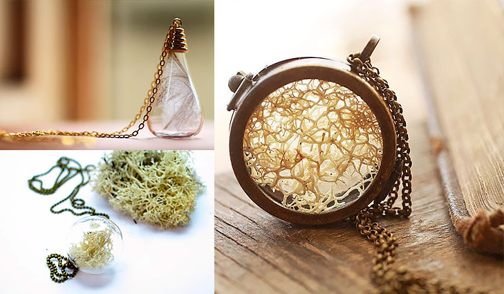 white moss necklace @TheRoyaleIndia