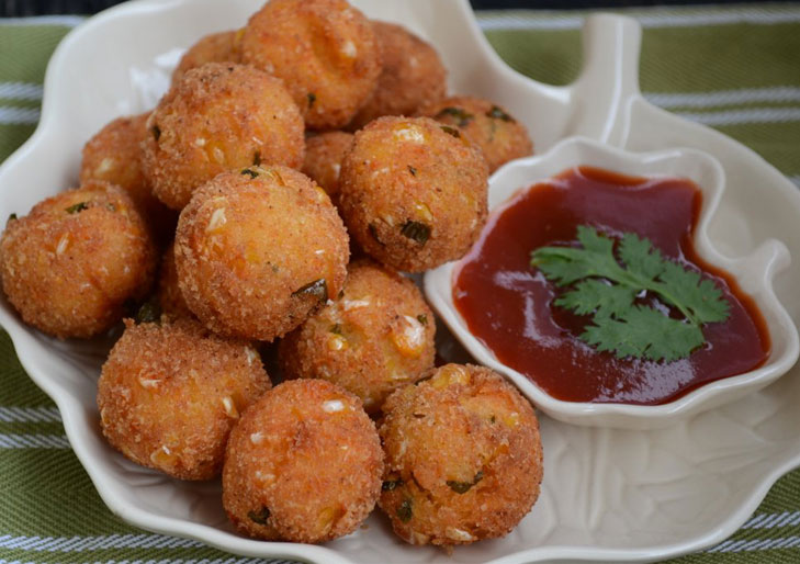 corn cheese balls @TheRoyaleIndia