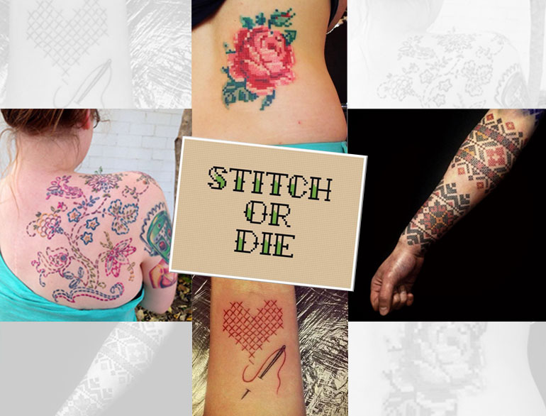 Cross Stitch Tattoos @TheRoyaleIndia