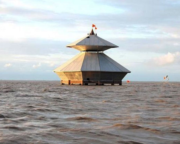 disappearing temple submerged @TheRoyaleIndia