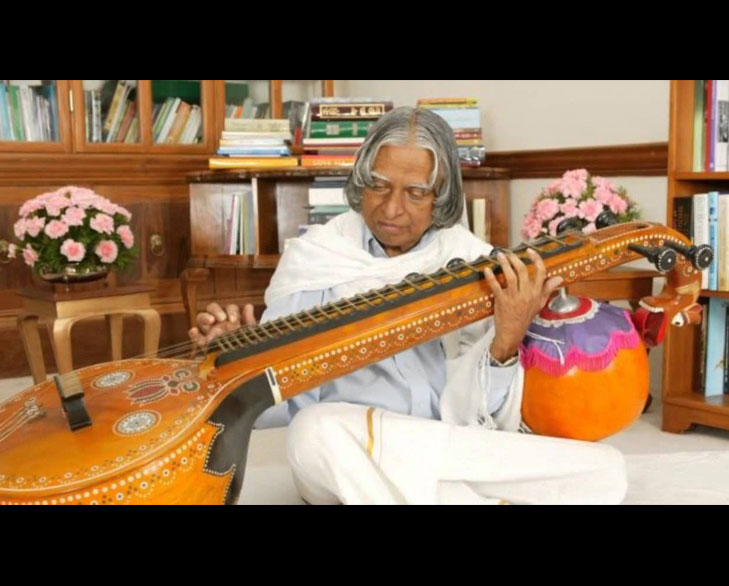 dr kalam playing veena @TheRoyaleIndia