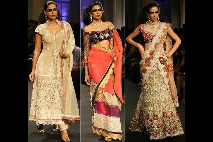 falguni & shane peacock dress @TheRoyaleIndia