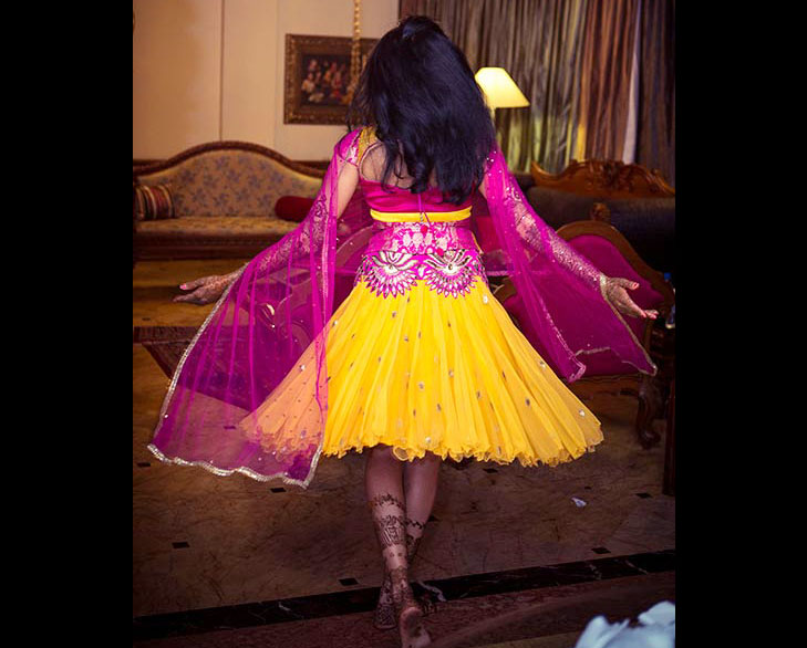 knee length lehenga girl @TheRoyaleIndia