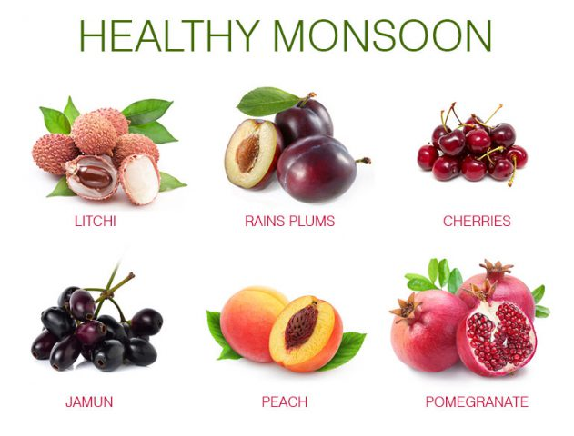 Healthy Monsoon Fruits @TheRoyaleIndia