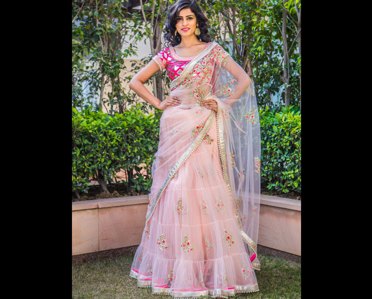 pastel shade wedding saree @TheRoyaleIndia