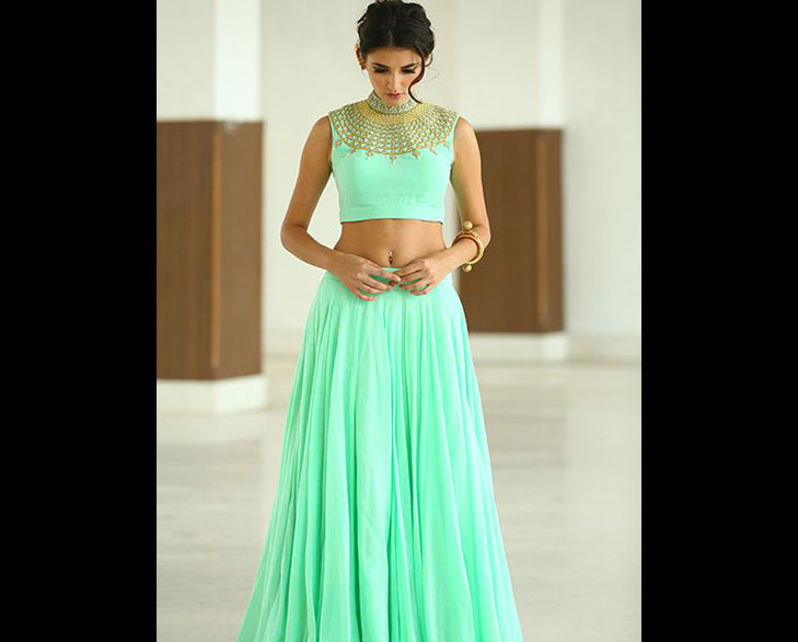 simple lehenga @TheRoyaleIndia