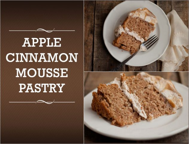 Apple Cinnamon Mousse Pastry Recipe @TheRoyaleIndia