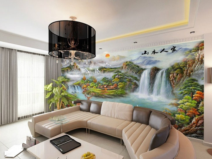 Wallpaper ideas for home the royale for 3d wallpaper in living room