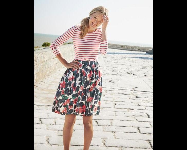 mixed print skirt @TheRoyaleIndia