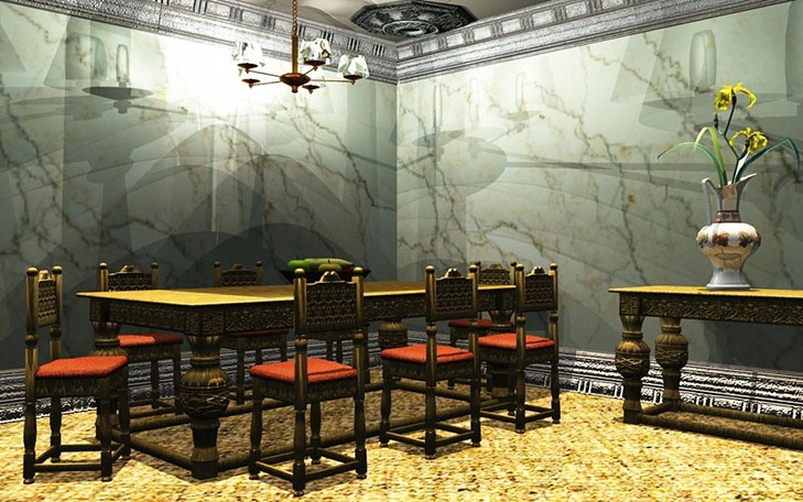 Natural Wallpaper Dining Room @TheRoyaleIndia
