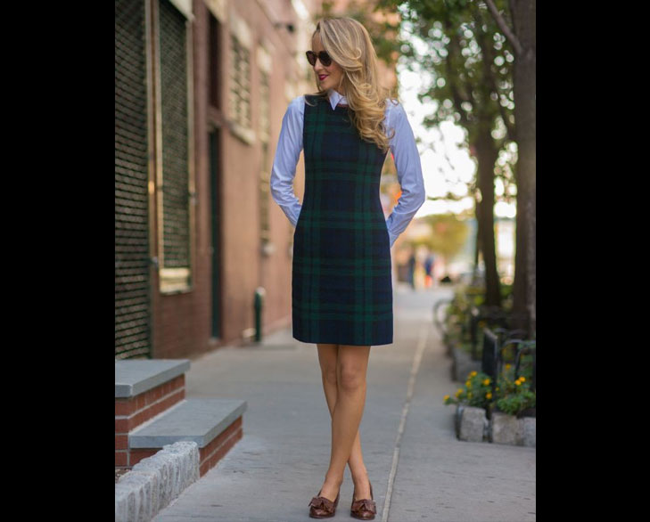 plaid dress for office @TheRoyaleIndia