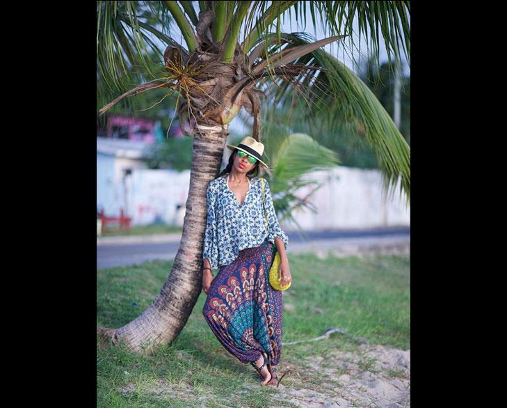 tropical mirror print harem pants @TheRoyaleIndia