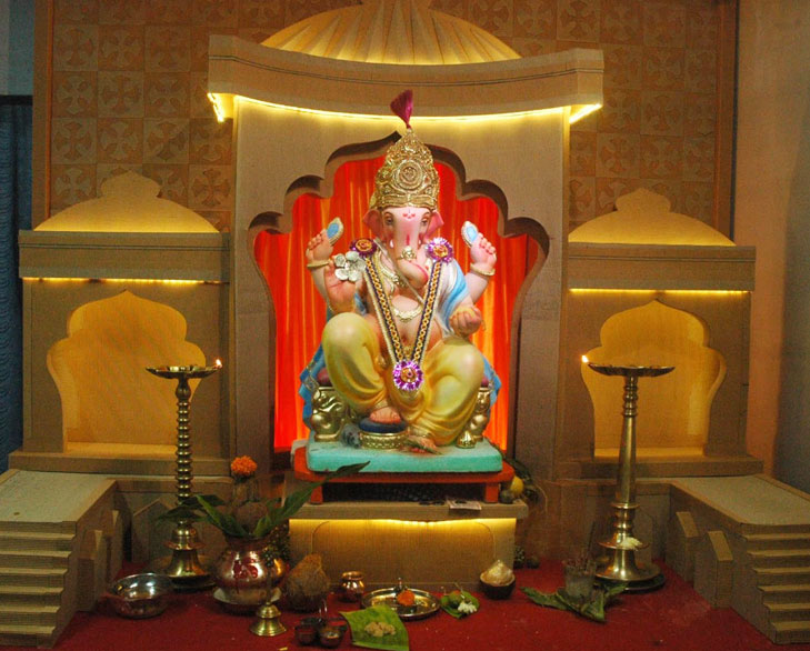 Card Board Ganpati Decor @TheRoyaleIndia